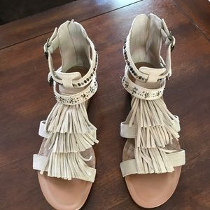 Gianni Bini Fringed sandals